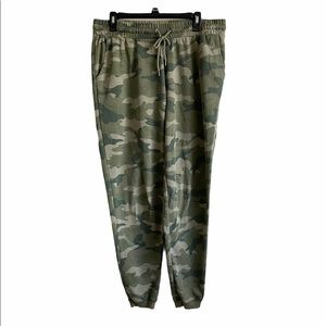 Old Navy Green Camo Fleece Jogger Sweatpants Large